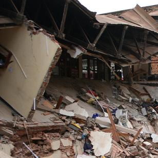 Collapsed Building on Nasser Road, Kampala