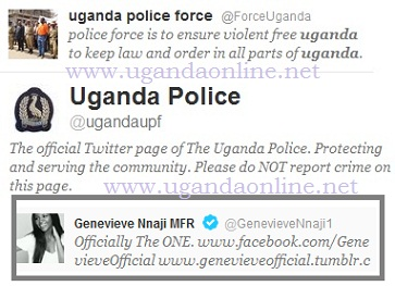 Uganda Police Force has two Twitter accounts so it might not be easy to tell which account is genuine