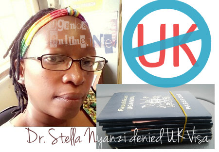 Dr. Stella Nyanzi has been denied a UK VISA