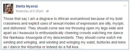 Some of Nyanzi's posts before her account was closed