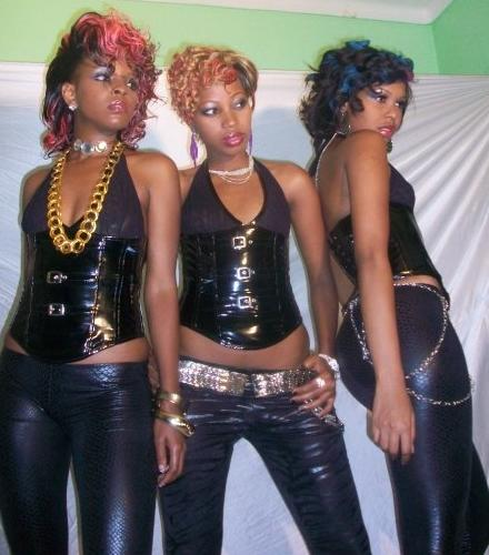 Jackie, Sheebah who left the group and Sharon