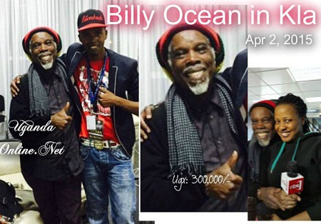 Billy Ocean with comedian Alex Muhangi and Argatha Loswash