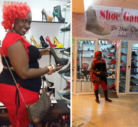 Straka at Pallaso's shop dealing in shoes
