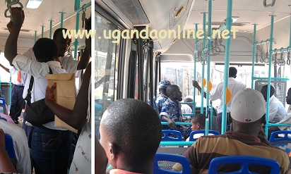The Pioneer Easy bus transporting passengers to Kampala