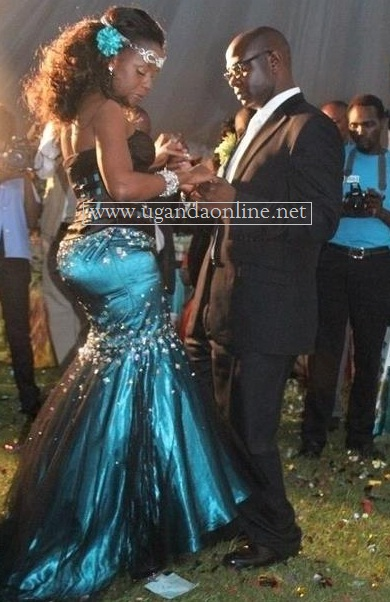 Priscilla Kalibala and Kimbugwe on their wedding day