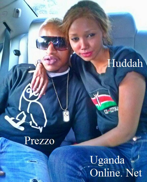 Prezzo and Huddah on arrival at the airport