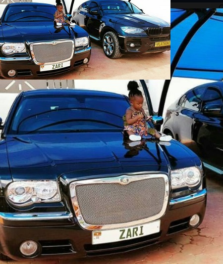 Princess Tiffah on mom's black Chrysler