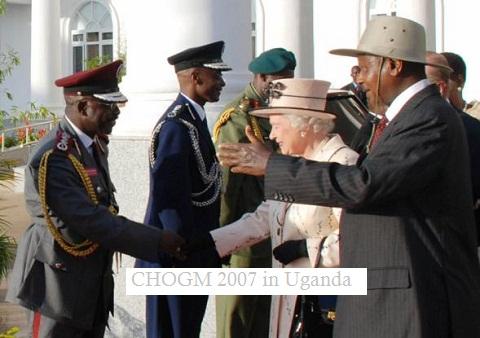 HM Queen Elizabeth II on her last visit to Uganda in 2007