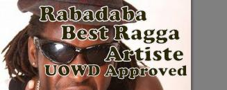 Rabadaba won the PAM Awards Best Ragga Artiste-2010