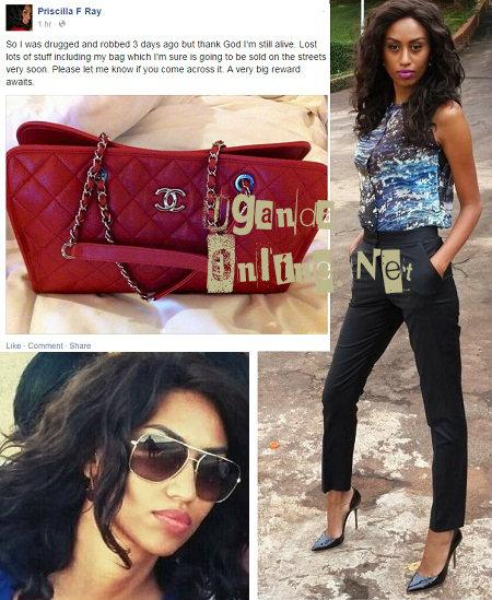 Ex-model Priscilla ray robbed clean