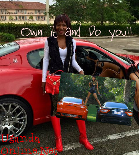 Her latest Maserati is red in colour