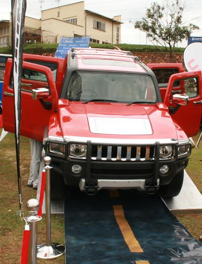 Red Hummer at Stanbic Auto Show