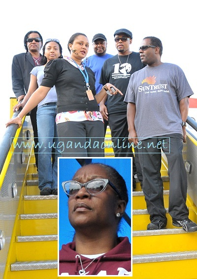 Regina Belle and Team on arrival at Entebbe Airport on 03-Oct-2012