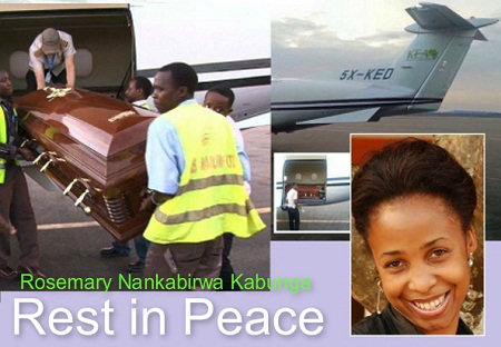 Rosemary's casket at Entebbe airport
