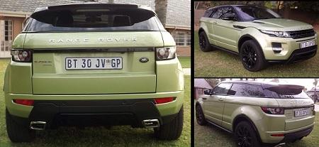 Range Rover Evoque as a Valentine present to his mum