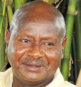 President Museveni addressing journalists on 16.Apr.2011