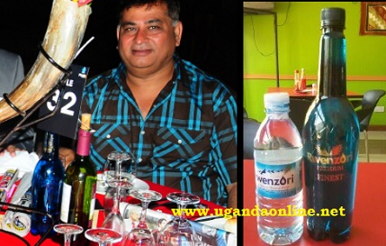 A guest during the PAM Awards with a Rwenzori Premium Finest bottle before him
