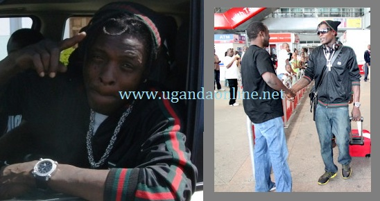 Jose Chameleone on arrival in Dar