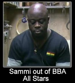 Ghana's Sammi out of BBA