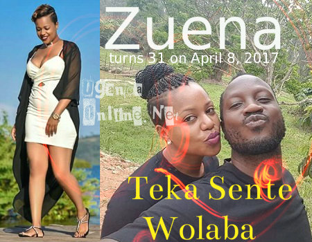 The Teka Sente Wolaba singer and wife Zuena