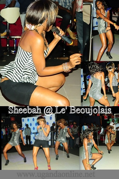 Sheebah Karungi performing with her queen dancers at Club Le' Beaujolais