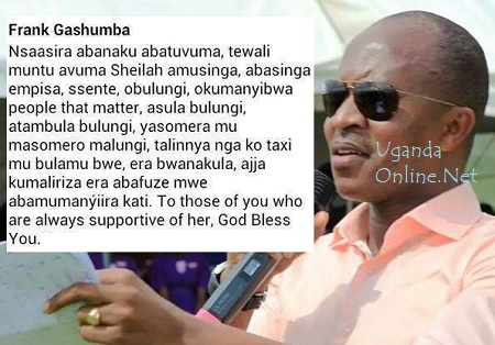 Frank Gashumba's response to haters