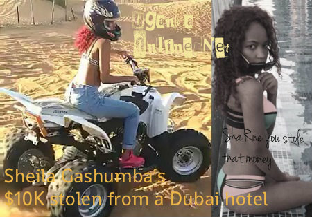 Sheila Gashumba before the money was stolen