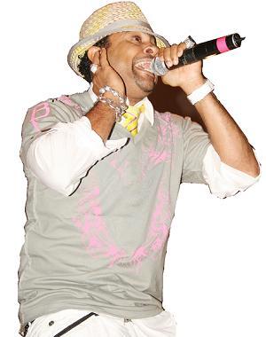 Shaggy performing at Lugogo Cricket Oval, Kampala