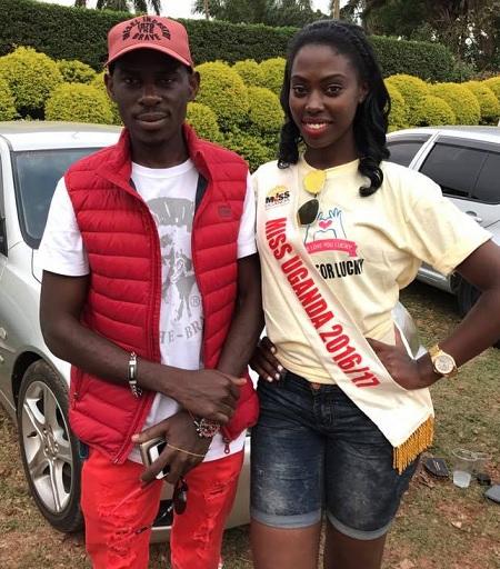 SK Mbuga and Miss Uganda Leah Kagasa