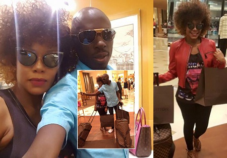 SK Mbuga and his other wife, Vivienne in Dubai