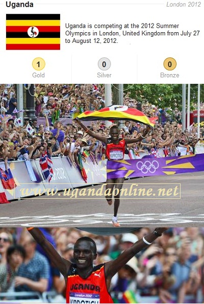 Stephen Kiprotich wins gold for Uganda