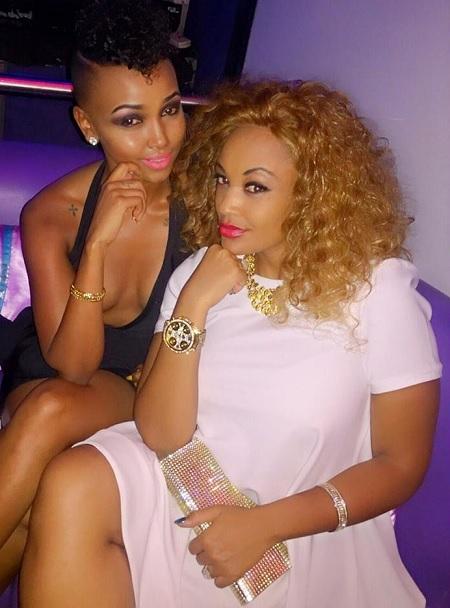 Socialites Huddah Monroe and Zari in Nairobi