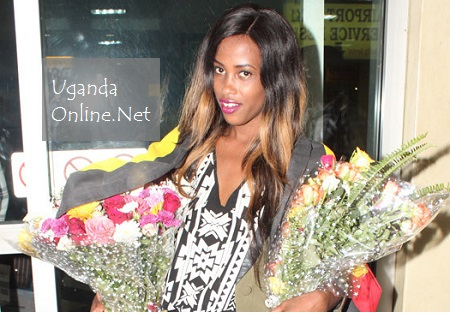 Esther Akankwasa at Entebbe International Airport on 23.Oct.2014