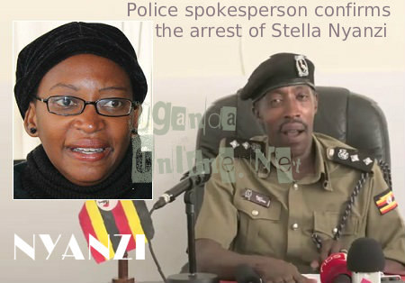 Police spokesperson Emilian Kayima confirms the arrest of Stella Nyanzi