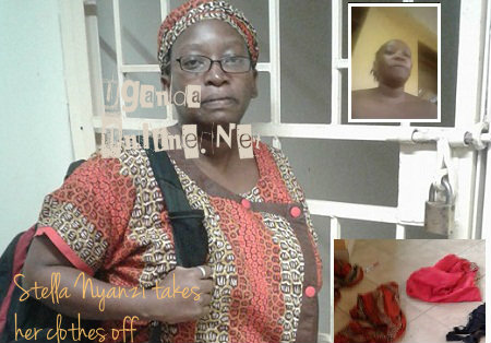 Stella Nyanzi stripped all her clothes off to have her office opened