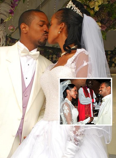 Christopher Thomas kissing the bride