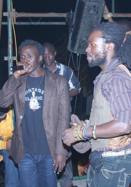 Tigan performing ath the Wadawa Launch