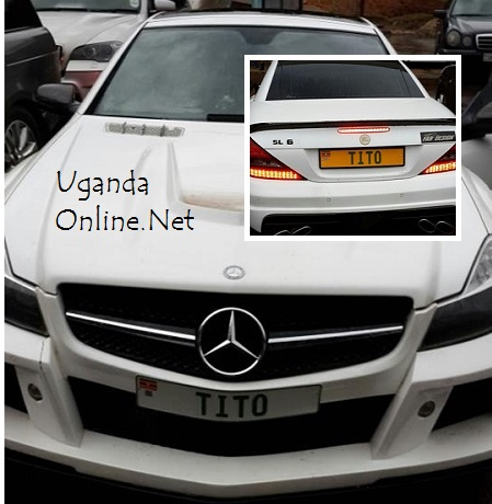 The Mercedes SL V12 Biturbo at URA Nakawa offices