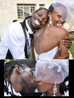 Omubanda kissing the bride