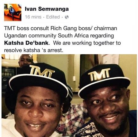 Ivan Semwanga and Cameroon Gitawo