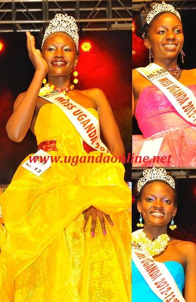 Miss Uganda Bizzu in yellow