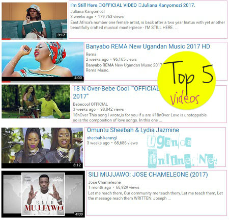 Top 5 videos this week...