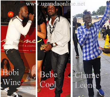Bobi Wine, Bebe Cool and Jose Chameleone at different functions