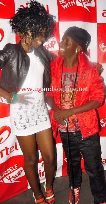 Former HB Toxic member with MC Kats at Club Rouge