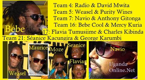 Uganda contestants in the Twende Kazi reality show