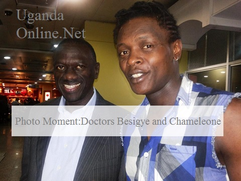 Dr. Besigye and Jose Chameleone
