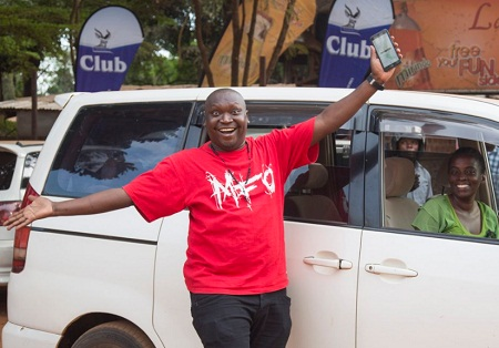 Salvador was one of the first Uber riders in Kampala