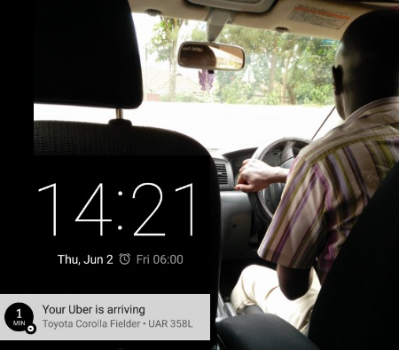 With UBER, you know the driver and car way in advance