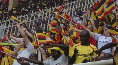 Supporters of Uganda Cranes at Namboole on 04.Jun.2011