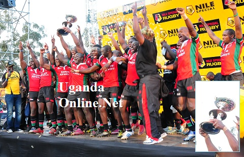 The Kenyan team celebrating their win
